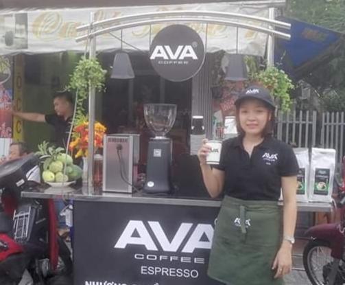 Xe cà phê pha máy AVA
